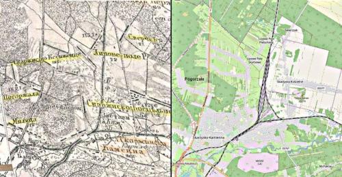 Mapa z 1872- 2019