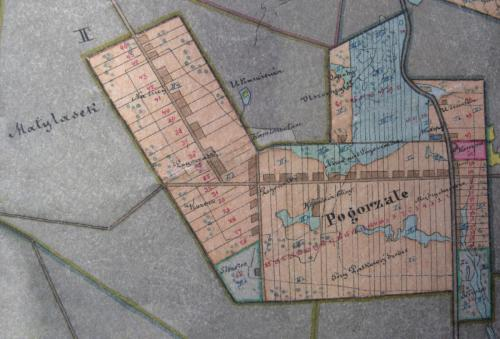 mapa Pogorzałego 1858